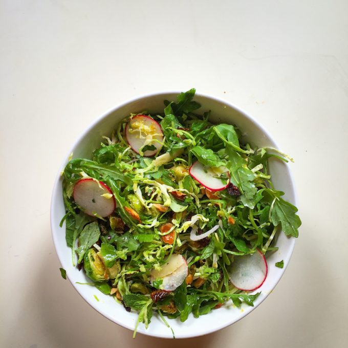 What We Eat: Shaved Brussels Sprouts Salad