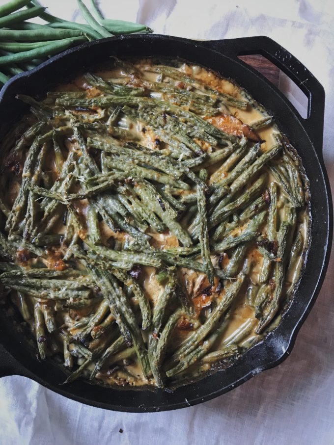 Green Beans with cream and spices