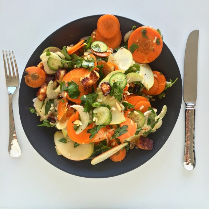 What We Eat: Carrot, Apple and Halloumi Salad