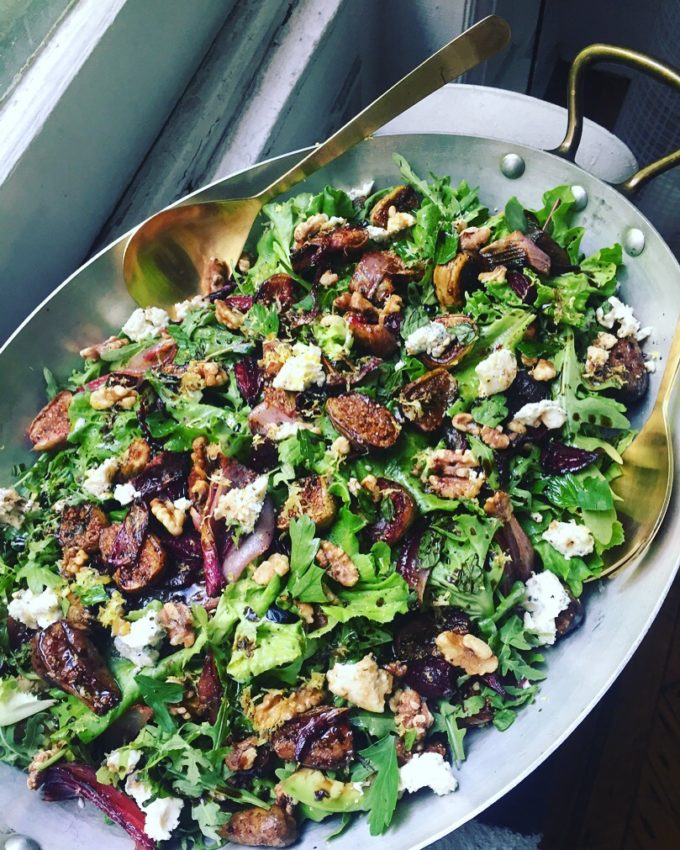 What We Eat: Roasted Fig and Red Onion Salad