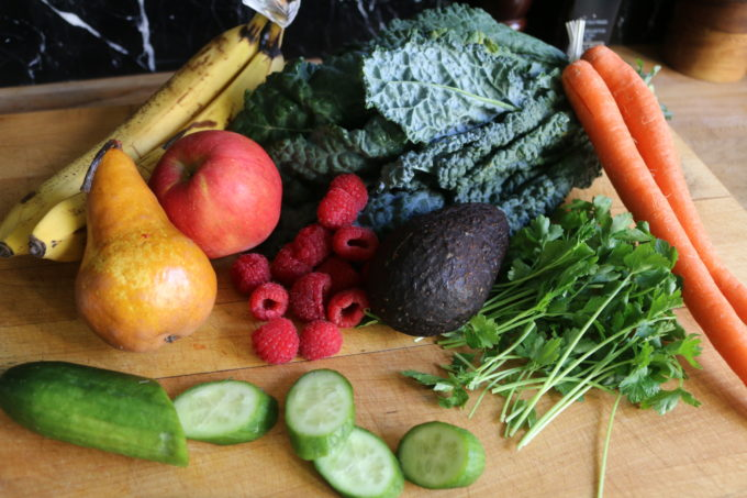 Fruits and vegetables for smoothies