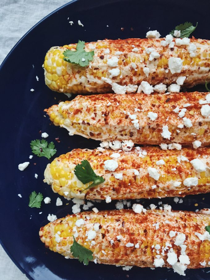 Corn on the cob with paprika